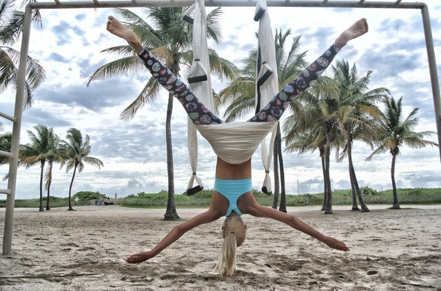 Aerial yoga: taking yoga off the mat